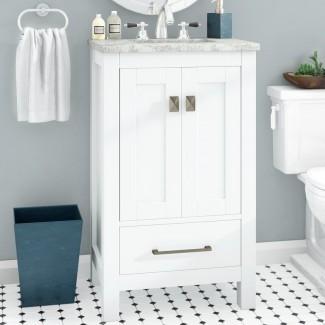 """Khadijah Set de tocador de baño individual de 24 """""""