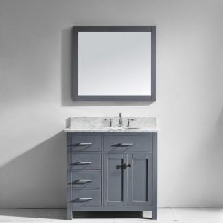 """Juego de tocador de baño individual Savitsky de 35 """"con espejo"""