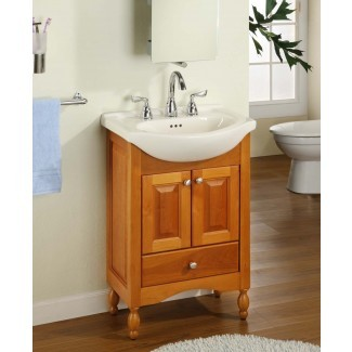 Cómo renovar un tocador de baño de profundidad estrecha ...