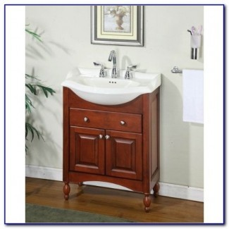 Tocador de baño con profundidad estrecha superior | Ideas de decoración del hogar