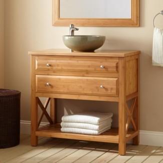 Baño. Ideas encantadoras de tocador de baño de profundidad estrecha ...