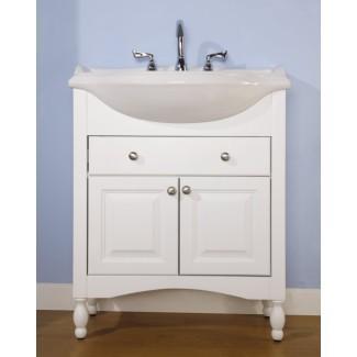 Mueble de baño de 30 pulgadas con fregadero simple y baño estrecho ...