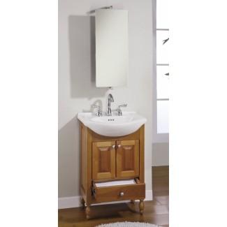 Mueble de baño de 22 pulgadas con fregadero simple Mueble de baño de profundidad estrecha ...