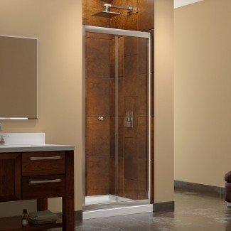 "Mampara de ducha cuadrada plegable sin marco de 32 ""x 32"" x 72 ""de mariposa"