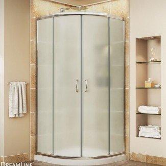 "Primer marco de ducha corredizo sin marco de 38 ""x 38"" x 74.75 """