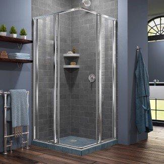 "Cornerview 34.5 ""x 34.5"" x 72 ""cabina de ducha corrediza cuadrada"
