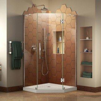 "Cabina de ducha con bisagras sin marco Prism Plus de 36 ""An. X 36"" P"