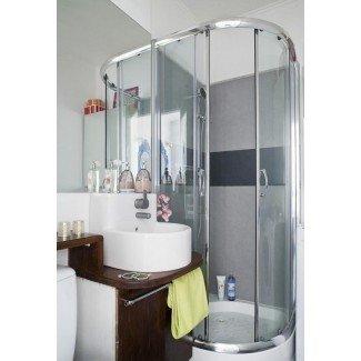 Pequeñas ideas de ducha para baños con espacio limitado
