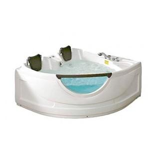 Bañera para 2 personas Accesorio de esquina blanca con hidromasaje Hidromasaje computarizado 19 Chorros de masaje, ventana, construido -en calentador, radio FM, bañera Bluetooth SPA modelo SYM150150A-sds