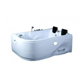 SDI Factory Direct - Bañera de hidromasaje con hidromasaje para 2 personas, interior, para hidromasaje SPA (052A blanco) con Bluetooth