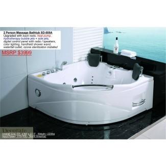 Bañera para bañera de hidromasaje negra para 2 personas ...
