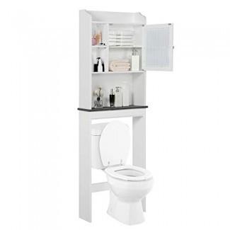 """Yaheetech Armario sobre el inodoro que ahorra espacio - Armario independiente para baño con estantes ajustables, 23.2 """"L x 7.4"""" W x 68.9 """"H"""
