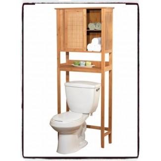 Sobre el inodoro Gabinete de almacenamiento para baño Espacio en estantes ...
