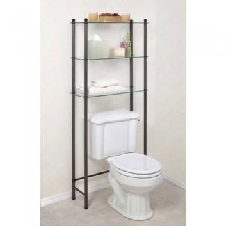 Estante para baño independiente sobre el inodoro