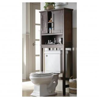 Baño: Armarios de almacenamiento sobre el inodoro en el baño   Over The ...