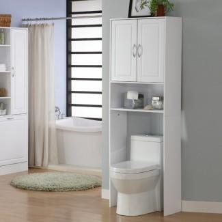Baño: Diseño de almacenamiento de baño económico con sobre ...