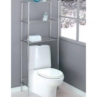 Baño sobre el inodoro Ahorrador de espacio en la estantería sobre el inodoro