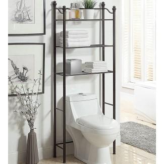 Estantes para baño sobre el inodoro en Over la estantería del inodoro