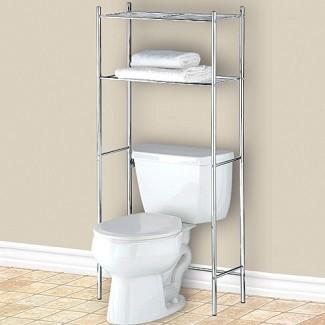 Estante para baño sobre el inodoro - Estantes cromados para el baño