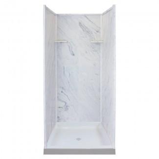"""Pared de ducha de tres paneles de 72 """"de alto x 36"""" de ancho x 36 """"de profundidad"""