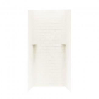 """Pared de ducha de tres paneles de superficie sólida de 73 """"x 36"""" x 36 """""""