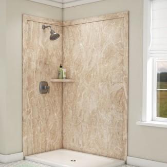 """Elegance Shower Surround 80 """"H x 48"""" W x 36 """"D 2 Panel de ducha de pared"""