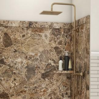 """Elegance Shower Surround 80 """"H x 48"""" W x 36 """"D 3 Panel de ducha de pared"""