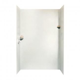 """Pared de ducha de tres paneles de superficie sólida de 96 """"x 62"""" x 36 """""""