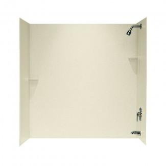 "Pared sólida para ducha de tres paneles, 60 ""x 60"" x 30 """