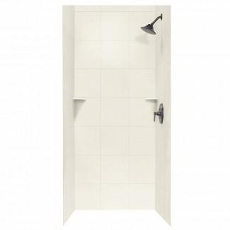 "Superficie sólida 72.5"" x 36 ""x 36"" Pared de ducha con tres paneles"