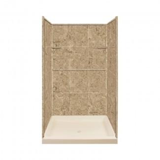 """Pared de ducha de tres paneles de 72 """"de alto x 48"""" de ancho x 34 """"de profundidad"""