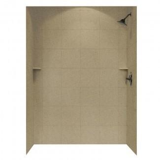 """Pared de ducha de tres paneles de 72.5"""" x 62 """"x 36"""""""