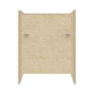 """Superficie sólida de 72 """"x 60"""" x 36 """"de tres Kit de pared de ducha de panel"""