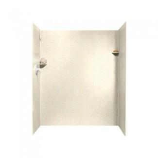 Swanstone SK-346072-072 Superficie sólida 3 paneles de la pared lateral y posterior de la ducha, guijarro