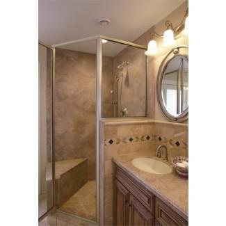 Cómo hacer paredes de ducha y bañera de superficie sólida (Corian®)