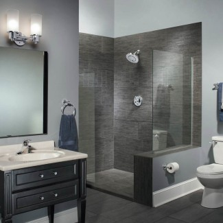 paredes de ducha de superficie sólida-Baño-Contemporáneo-con-azul ...
