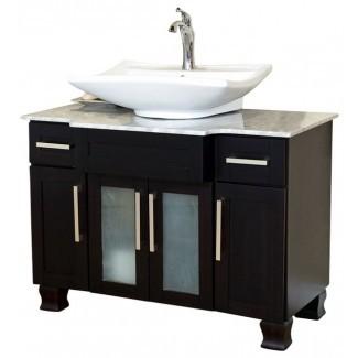 40 Inch Single Sink Vanity-Dark Mahogany - Modern ...