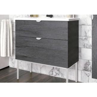Juego de tocador de baño moderno de 40 pulgadas | Smug Akron