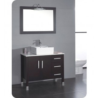 Cambridge Plumbing 8118 Juego de tocador de baño de 40 pulgadas