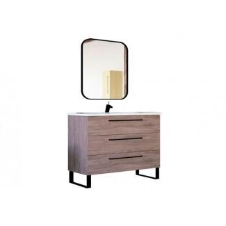 Mueble bajo lavabo de baño moderno de 40 pulgadas Juego de madera de roble ...