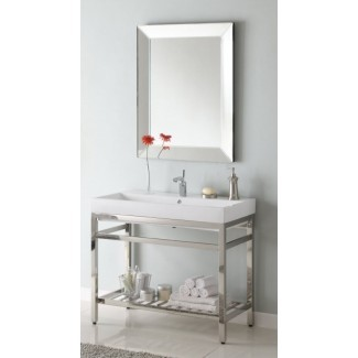 Vanidad de baño de consola de lavabo simple de 40 pulgadas con opción de