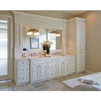 combinación de tocador para baño y armario para ropa blanca | Decoración para el hogar