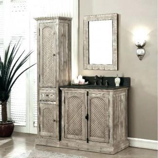 Modelo combinado de tocador de baño y gabinete de lino: más fácil para