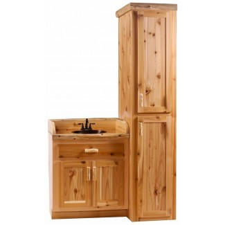 Timberline Log Vanity and Linen Cabinet - The Log. .