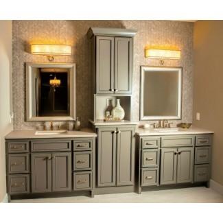 tocador de baño y armario para ropa blanca | Roselawnlutheran
