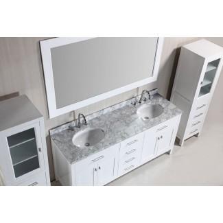 Modelo combinado de tocador de baño y gabinete de lino: más fácil de usar
