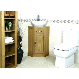 Modelo combinado de tocador de baño y gabinete de lino: más fácil de