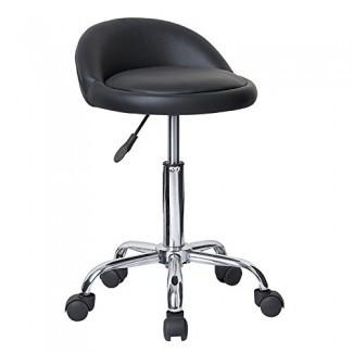 Modernhome Juno - Taburete de masaje de altura ajustable con ruedas