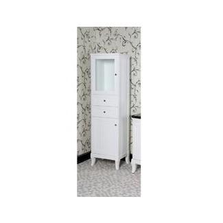 Gabinete de lino para baño con cesto