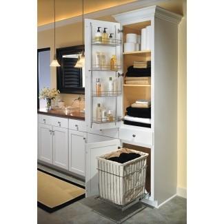 gabinete de lino con cesto - Decoración para el hogar
